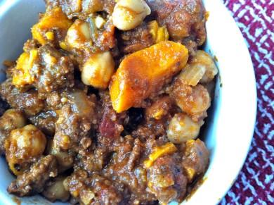 Рецепт Чили с говядиной, овощами и шоколадом