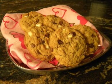 Рецепт Печенье с шоколадом и ирисками