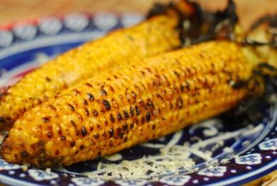 Рецепт Жареная кукуруза с лаймово-кокосовым маслом и сыром Джек