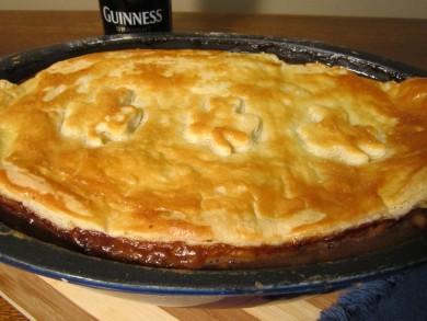 Рецепт Пирог с говядиной, ветчиной и устрицами