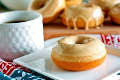 Рецепт Пончики с кофейной глазурью