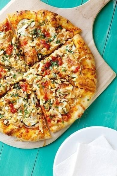 Рецепт Пицца  по-тайски с курицей