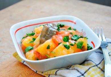 Рецепт Рагу из моркови и картофеля