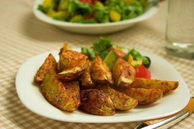 Рецепт Запеченные картофельные дольки