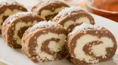 Рецепт Рулет шоколадно-кокосовый