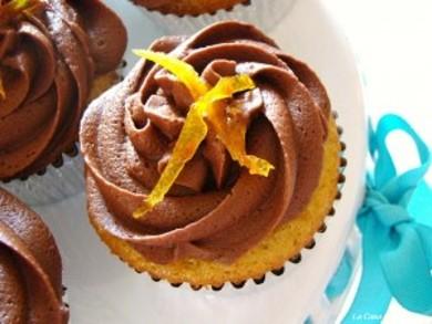 Рецепт Апельсиновые кексы с шоколадным кремом