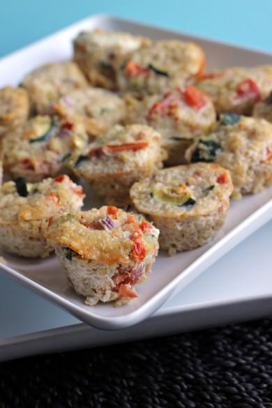 Рецепт Мини-киши с овощной начинкой