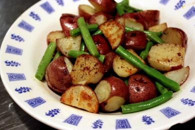 Рецепт Жареный картофель с фасолью