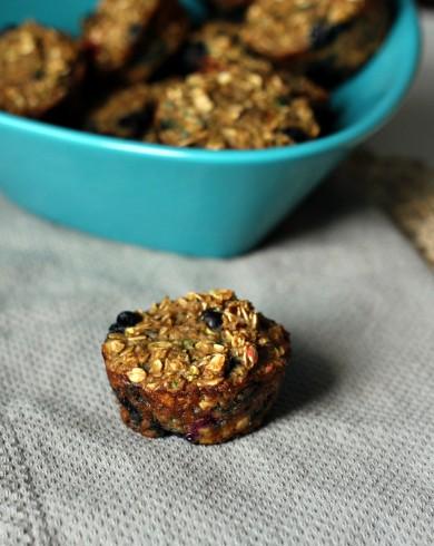 Рецепт Овсяные кексы с черникой и цуккини