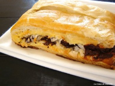 Рецепт Тропический пирог с шоколадной начинкой