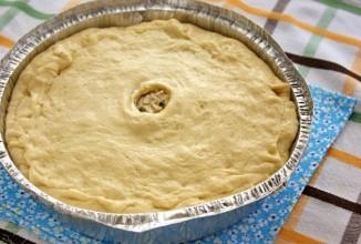 Пирог с курицей и соусом Бешамель - приготовление