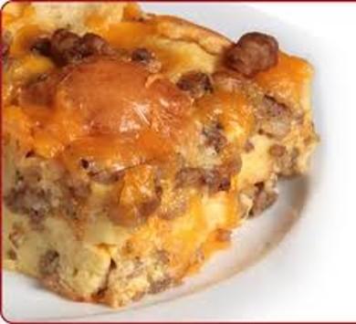 Рецепт Запеканка с колбасой и сыром
