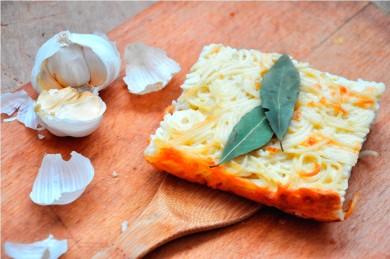 Рецепт Запеканка с спагетти и творогом