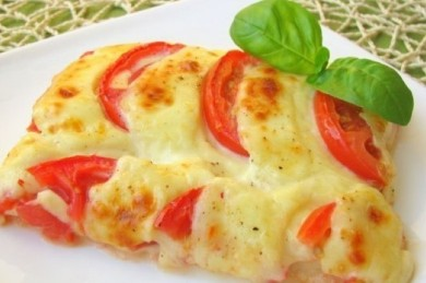 Рецепт Пирог с помидорами и сыром