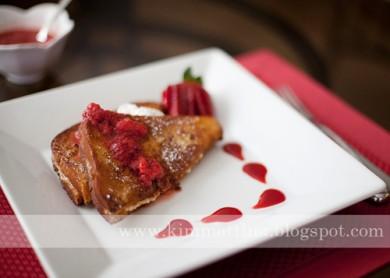 Рецепт Французские тосты с начинкой из творожной пасты