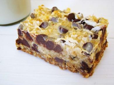 Рецепт Овсяные пирожные с шоколадом и кокосовой стружкой