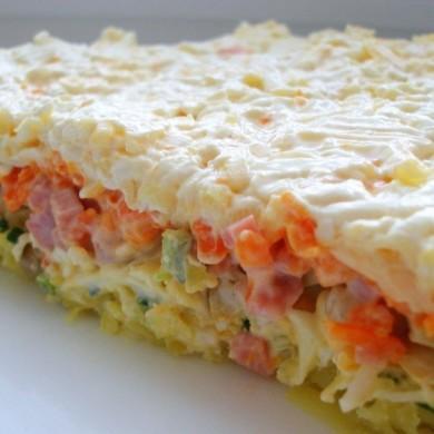 Рецепт Слоеный салат с грибами
