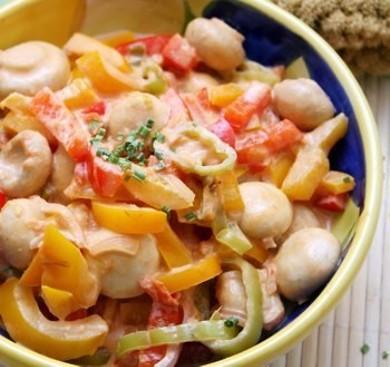 Рецепт Грибное рагу с томатами