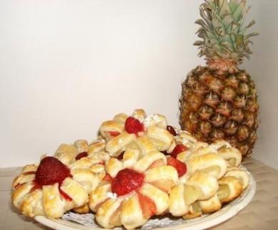 Рецепт Печенье с ломтиками ананаса