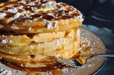 Рецепт Ванильные вафли к завтраку — рецепт для вафельницы