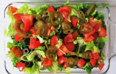 Рецепт Мясной салат с овощами и приправой тако