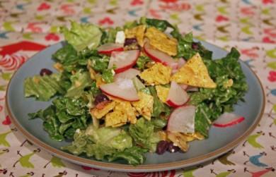 Рецепт Салат из фасоли с овощами