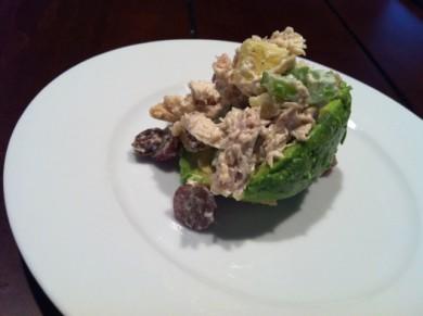 Рецепт Авокадо фаршированный куриным салатом