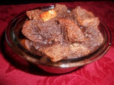 Рецепт Шоколадно-хлебный пуддинг