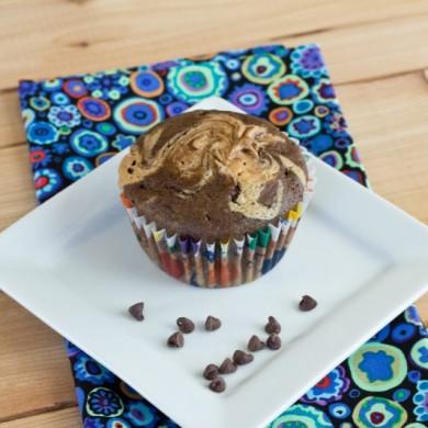 Рецепт Шоколадные маффины с арахисовым маслом
