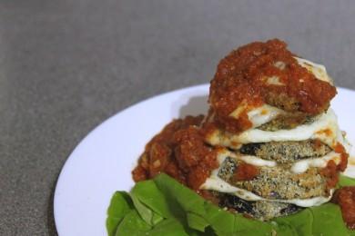Рецепт Запеченный баклажан с соусом маринара