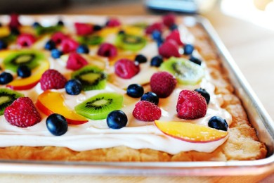 Рецепт Фруктовая пицца
