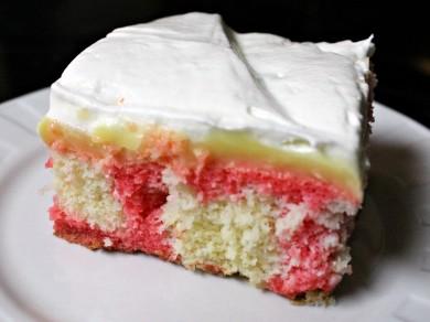 Рецепт Клубничный торт с  ванильным пудингом