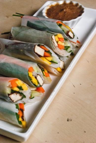 Рецепт Роллы весенние с маринованным тофу