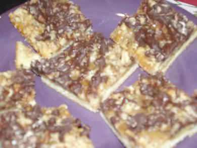 Рецепт Батончики с шоколадом и орехами