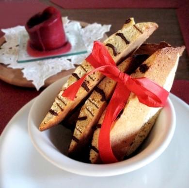 Рецепт Миндальные бискотти с шоколадом
