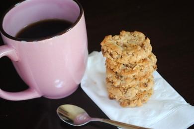 Рецепт Рассыпчатое печенье с кешью и ирисом