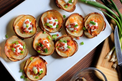 Рецепт Запеченный картофель с сыром и беконом