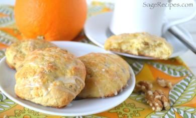 Рецепт Апельсиновое печенье с грецкими орехами