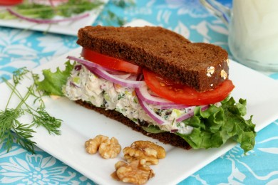Рецепт Сэндвич с салатом из тунца