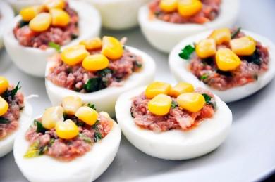 Рецепт Яйца фаршированные тунцом