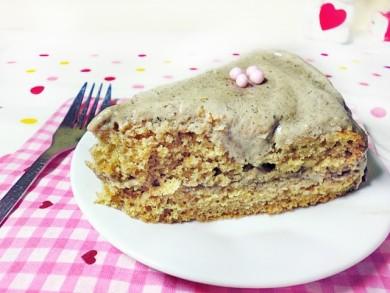 Рецепт Бисквитный пирог с кунжутной глазурью