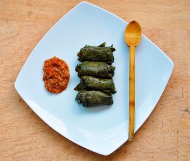 Рецепт Вегетарианская долма с рисом и грибами