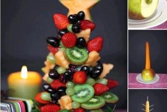 Елочка из фруктов и ягод - приготовление