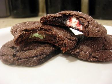 Рецепт Шоколадно-мятное печенье с сюрпризом