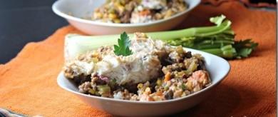 Рецепт Запеканка из мяса с овощами и картофельного пюре
