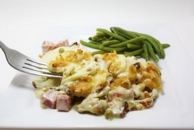 Рецепт Запеченная картошка с сыром и ветчиной