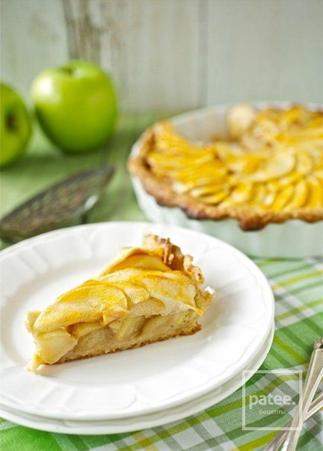 Фото рецепт яблочно-банановый пирог