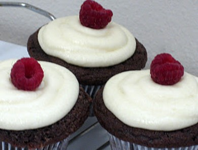 Рецепт Шоколадно-малиновые кексы