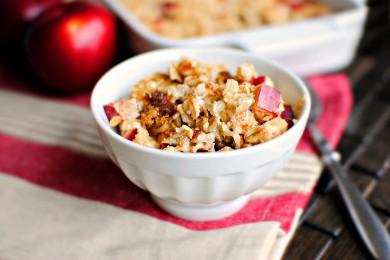 Рецепт Запеченная овсянка с яблоком и корицей