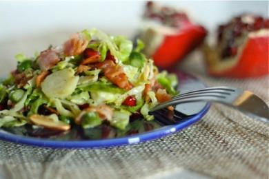 Рецепт Теплый салат из спаржи и брюссельской капусты